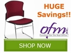 OFM Stack Chair and Folding Table by