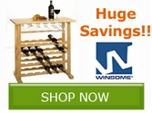 Save BIG on select Winsome Wood Entertainment Products!!