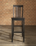 School House Bar Stool in Black Finish with 30'' Seat Height - Set of 2 [CF500330-BK-FS-CRO]
