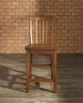 School House Bar Stool in Classic Cherry Finish with 24'' Seat Height - Set of 2 [CF500324-CH-FS-CRO]