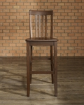 School House Bar Stool in Vintage Mahogany Finish with 30'' Seat Height - Set of 2 [CF500330-MA-FS-CRO]