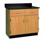 Science Lab 2 Door and 2 Drawer Base Cabinet [106-3622-DW]