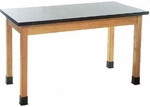 Science Lab Plain Apron Table with Solid Epoxy Top [P7106K30N-DW]