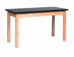 Solid Wood and Laminate Science Lab Table with Regular Top [600S-2448-BT-GCC]