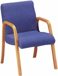 Quick Ship Scoop Arm Chair with Wood Arms [1003-FS-HPF]