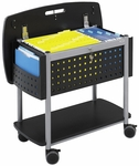 Scoot™ 29.75'' W x 18.75'' D x 27'' H Mobile File with Work surface and Bottom Shelf - Black [5370BL-FS-SAF]