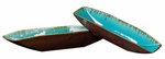 Sea Blue w/ Pewter Bottoms Ceramic Trays [18122-FS-HEC]