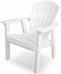 POLYWOOD® Seashell Casual Chair - White [SHD19WH-FS-PD]
