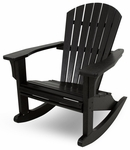 POLYWOOD® Seashell Rocker - Black [SHR22BL-FS-PD]