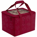 Seasons Holiday Ornament Organizer and Storage Bin with Removable Sections