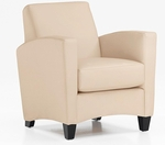 Sebring Contemporary Side Chair - Buff Simulated Leather [CH108105B5080-FS-DMI]
