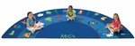 Semi-Circle Fun With Phonics Reading Rug [9618-FS-CAP]