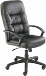 Serenity™ 26'' Dia x 44'' H Leather Executive Swivel - Black [3470BL-FS-SAF]