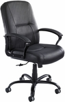 Serenity™ Big and Tall High Back 26'' W x 45.5'' H Adjustable Height Leather Chair - Black [3500BL-FS-SAF]