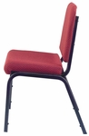 1020 Series Stacking Steel Frame Musicians Armless Chair with 2'' Upholstered Waterfall Seat - Sandtex Black [CM1020-SB-IFK]
