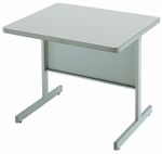 Customizable Series 4000 Single Bar Leg Workstation - 24''W x 30''D x 29''H [BK4215-BKS]