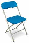 Series 5 Steel Frame Stackable Folding Chair with Polypropylene Seat and Back [21020-MCC]
