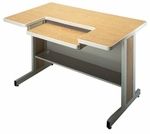 Customizable Series 5000 Double Bar Leg Workstation - 24''W x 30''D x 29''H [BK5215-BKS]