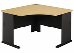 Series A 48'' W Corner Desk - Beech and Slate Gray [WC14366-FS-BBF]