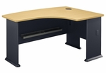 Series A 60'' W x 44'' D L-Bow Desk - Beech and Slate Gray [WC14322-FS-BBF]