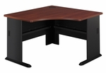 Series A 48'' W Corner Desk - Hansen Cherry and Galaxy [WC90466A-FS-BBF]