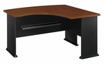 Series A 60'' W x 44'' D L-Bow Desk - Hansen Cherry and Galaxy [WC94422-FS-BBF]