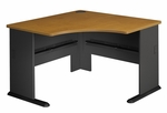 Series A 48'' W Corner Desk - Natural Cherry and Slate Gray [WC57466-FS-BBF]