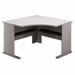 Series A 48'' W Corner Desk - White Spectrum and Pewter [WC14566-FS-BBF]