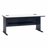 Series A 72'' W Desk - White Spectrum and Slate Gray [WC84872-FS-BBF]
