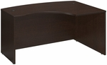 Series C 60'' W x 43'' D L-Bow Desk - Mocha Cherry [WC12922-FS-BBF]