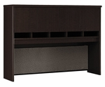 Series C 60'' W Hutch with 4 Doors - Mocha Cherry [WC12962-FS-BBF]
