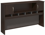 Series C 72'' W Hutch with 2 Doors - Mocha Cherry [WC12966K-FS-BBF]