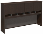 Series C 72'' W Hutch with 4 Doors - Mocha Cherry [WC12977K-FS-BBF]