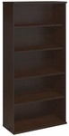 Series C Open Double Bookcase - Mocha Cherry [WC12914-FS-BBF]