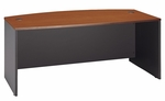 Series C 72'' W x 36'' D Bow Front Desk - Auburn Maple and Graphite Gray [WC48546-FS-BBF]