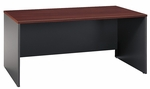 Series C 66'' W x 30'' D Desk Shell - Hansen Cherry and Graphite Gray [WC24442A-FS-BBF]