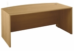Series C 72'' W x 36'' D Bow Front Desk - Light Oak [WC60346-FS-BBF]