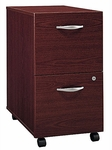 Series C Two Drawer Mobile Pedestal File - Mahogany [WC36752-FS-BBF]