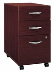 Series C Three Drawer Mobile Pedestal File - Mahogany [WC36753-FS-BBF]