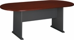 82'' W x 35'' D Racetrack Conference Table - Mahogany [TR36784A-FS-BBF]