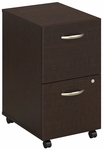Series C Two Drawer Mobile Pedestal File - Mocha Cherry [WC12952-FS-BBF]