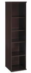 Series C Open Single Bookcase - Mocha Cherry [WC12912-FS-BBF]
