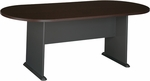 82'' W x 35'' D Racetrack Conference Table - Mocha Cherry [TR12984A-FS-BBF]