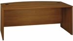 Series C 72'' W x 36'' D Bow Front Desk - Warm Oak [WC67546-FS-BBF]