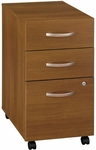 Series C Three Drawer Mobile Pedestal File - Warm Oak [WC67553-FS-BBF]