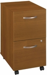 Series C Two Drawer Mobile Pedestal File - Warm Oak [WC67552-FS-BBF]
