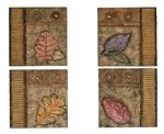 Mountain Vista 4 Piece Fall Leaves 10''H Wall Decor - Multicolor [1039-FS-PAS]