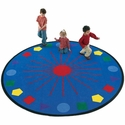 Circular Shapes Galore Educational Nylon Rug