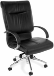 Sharp Leather Executive High-Back Chair - Black [510-L-FS-MFO]