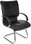Sharp Leather Executive Guest Chair - Black [515-L-FS-MFO]